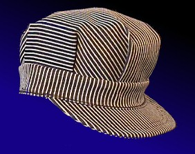 blue and white stripped engineer hat e13452f666c9